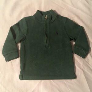 Dark Green Ralph Lauren Half Zip Sweater 18 Months